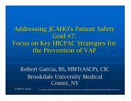 Addressing JCAHO's patient safety goal #7 - Sage Products Inc.