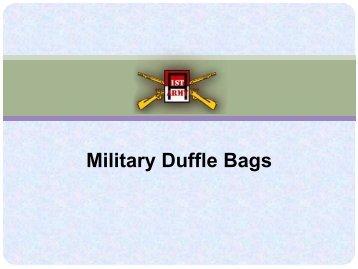Military Duffle Bags