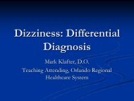 Dizziness: Differential Diagnosis