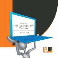 INVESTOR RELATIONS ON-LINE - IR Top