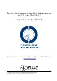 Formula milk versus donor breast milk for feeding preterm ... - PQCNC