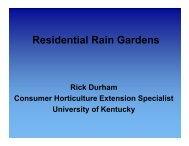 Residential Rain Gardens - University of Kentucky