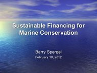 Sustainable Financing for Marine Conservation