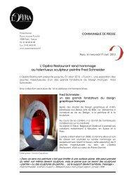 Exposition Fusion du.. - L'Opera Restaurant