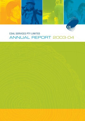 coal services pty limited annual report 2003–04