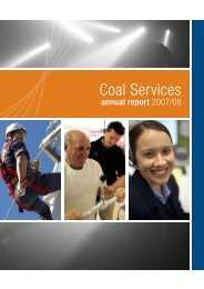 Coal Services Annual Report 2007 - 2008