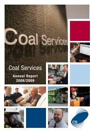 Coal Services Annual Report 2008 - 2009