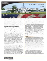 Overview of the 2007 USDA Farm Bill Proposals for Dairy - Livestock ...
