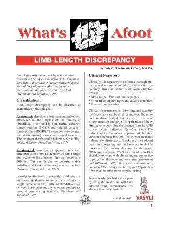 Limb Length Discrepancy - Vasyli Medical