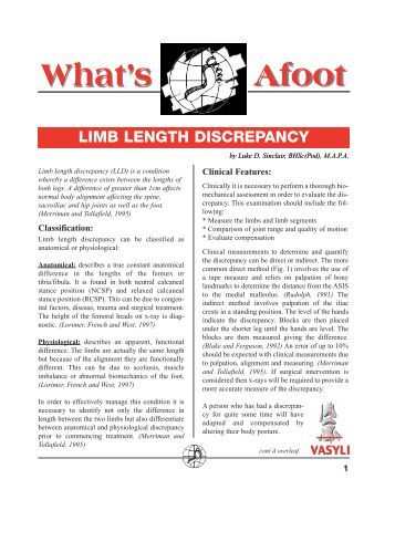Limb Length Discrepancy - Vasyli Medical
