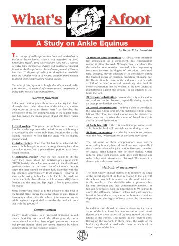 A Study on Ankle Equinus - Vasyli Medical