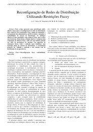 Reconfiguração de Redes de Distribuição Utilizando ... - RICA