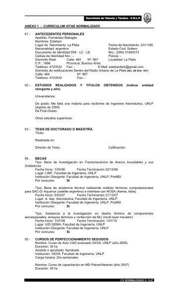 Curriculum Vitae Impreso Normalizado Upc