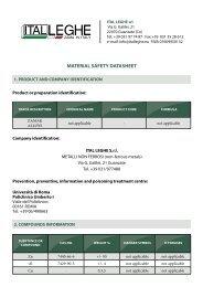 Safety data sheet - ItalLeghe