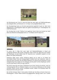 Am Wochenende des 13.und 14. April 2013 fand der vierte Jagd ...