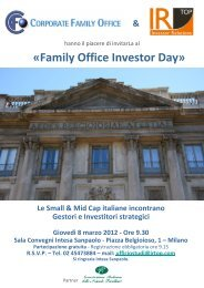 Visualizza l'invito all'evento Family Office Investor Day - IR Top