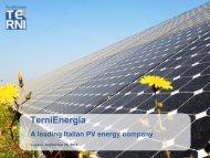 TerniEnergia - IR Top
