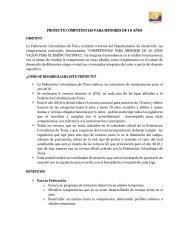 Sistema de Reglas y Competencias - Federación Colombiana de ...