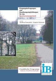 Quartiersanalyse Zeilsheim (PDF 2.4 MB) - Frankfurt am Main