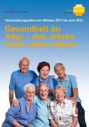 Flyer 3. Veranstaltungsreihe Gesundheit im Alter ... - Frankfurt am Main