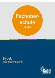 Sabel Fachoberschule in Nürnberg