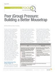 Peer (Group) Pressure: Building a Better Mousetrap - Sibson ...