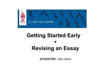 powerpoint assignment summer 07[1] Revising an Essay