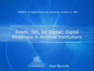 Ready, Set, Go Digital: Digital Readiness in Archival Institutions