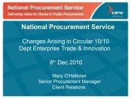 Proposal prepared for: - National Procurement Service