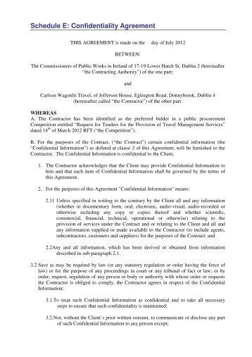 Formular Elektronisch Confidentiality Agreement The