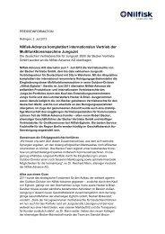 Nilfisk-Advance komplettiert internationalen Vertrieb der ...