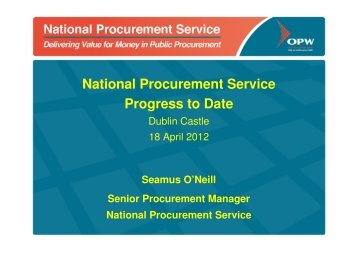 The National Procurement Service - Progress to date (1.23 MB)