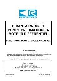 pompe airmix® et pompe pneumatique a moteur differentiel
