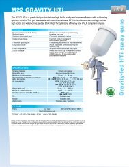 Gra vity-fed HTi spray guns M22 GraviTy HTi - Kremlin Rexson Sames