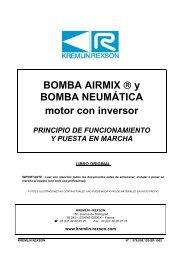 BOMBA AIRMIX ® y BOMBA NEUMÁTICA motor con inversor