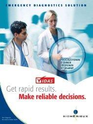 VIDAS Emergency Diagnostics Solution (pdf) - bioMérieux