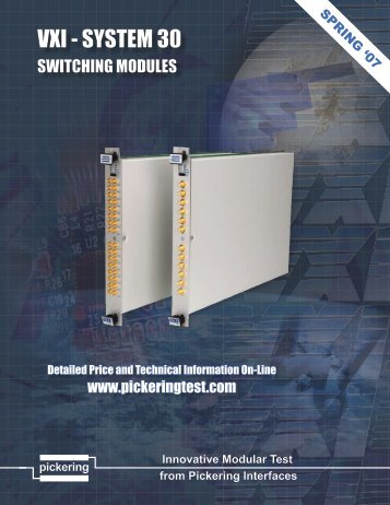 Pickering Interfaces VXI Product Range - RF Test Solutions
