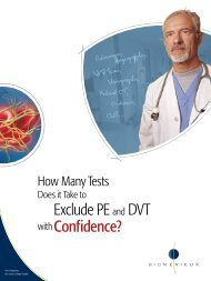 Exclude PE and DVT Confidence? - bioMérieux
