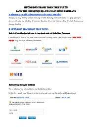 Thanh toán b?ng th? Connect 24 Vietcombank