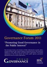 Governance Forum 2011