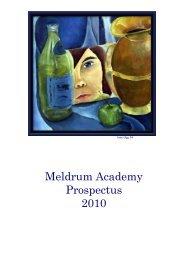 Meldrum Academy Prospectus 2010