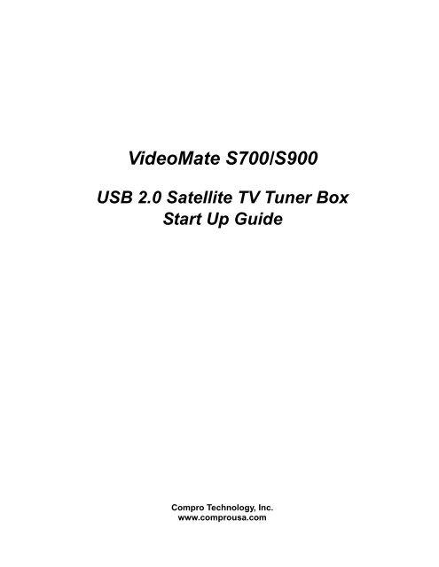 Videomate S700 S900 USB 20 Satellite TV Tuner Box Start Up