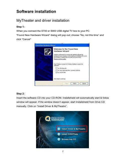 Software Installation MyT
