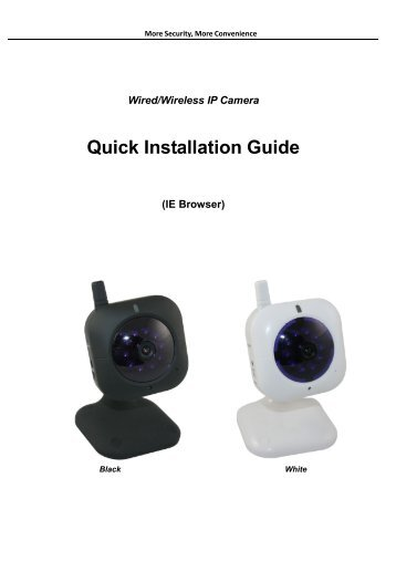 Wired/Wireless IP Camera Quick Installation Guide - Security cameras