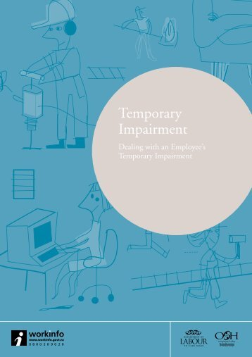 Temporary Impairment Dealing with an ... - Business.govt.nz