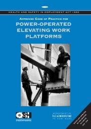 Power-Operated Elevating Work Platforms ... - Business.govt.nz