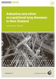 Asbestos and other occupational lung diseases ... - Business.govt.nz
