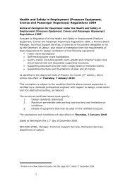 Notice of Exemption for Equipment under the ... - Business.govt.nz