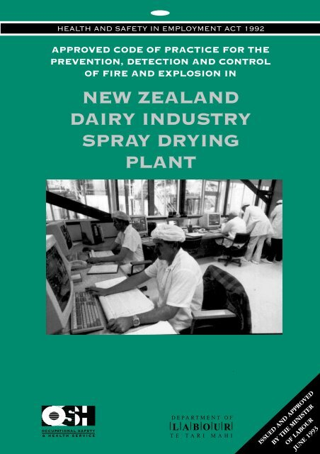 Fire and Explosion in New Zealand Dairy Industry ... - Business.govt.nz