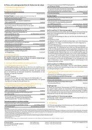 B. Preis- und Leistungsverzeichnis für Konten bei ... - FondsClever.de